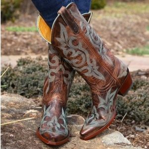 OLD GRINGO Diego Rust/Turquoise Cowboy Boots